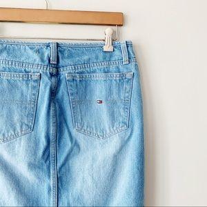 Tommy Hilfiger | VTG Flag Logo Denim Mini Skirt 6